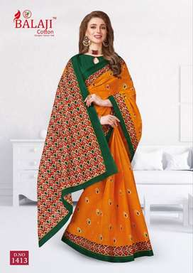 Balaji Cotton Sarees with blouse (singles)