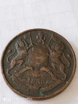 East India Company's Coin from 1838
