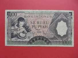 Uang kuno Kertas Rp 1000 Tahun 1958 Seri Pekerja