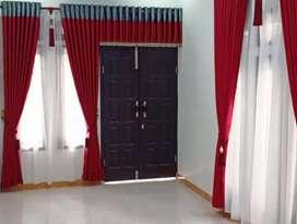 Gorden jendela berbagai pilihan bahan, motif dan warna / gordyn r8