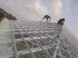 melayani perakitan atap baja ringan ANTI BOCOR