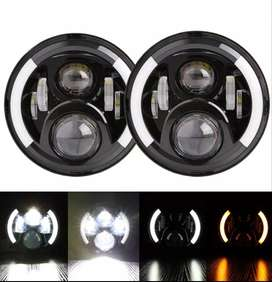 LED Head Lamps 7, Halo Amber Ring for Turn Signal - BRAND NEW