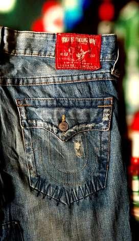 TRUE RELIGION Patch Sz 36 Celana Jeans