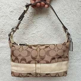Coach kanvas mix kulit asli hand bag