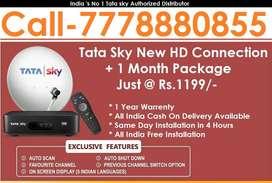 இழந்த விலை Tata Sky HD Connection- Airtel DTH Dish Tatasky D2H