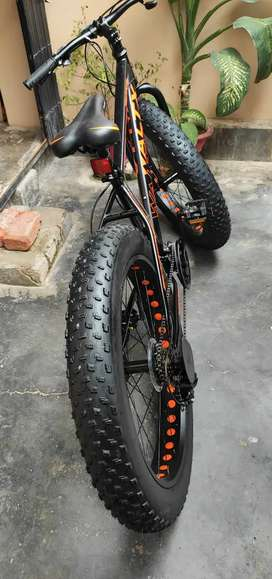 """Fat bike with 4"""" inch tyres"""