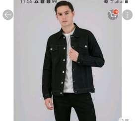 Jaket jeans warna hitam