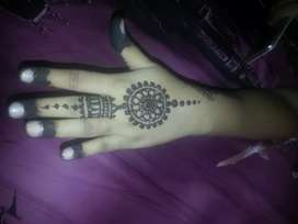 mehndi One hand 100 and two hand 200