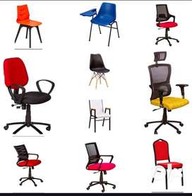 DIFFRENT VARITIES OF CHAIRS AND FURNITURES WITH GUARANTEE