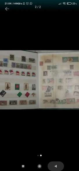 Jual 1 album perangko kuno lengkap ratusan perangko asli