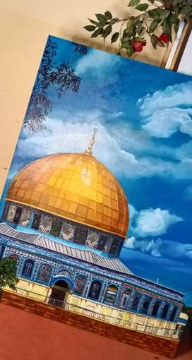 Dome of the rock oil painting