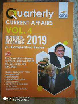 Quarterly current affairs vol 4- October to December 2019