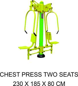 Jual Alat Fitnes Outdoor Chest Press Two Seats Garansi 1 Tahun