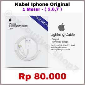 Kabel Charger USB APPLE ORIGINAL 100% - Panjang 1 Meter - READY STOCK