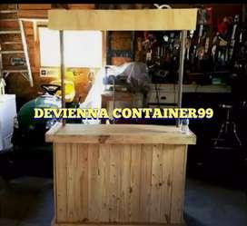 Booth Container kayu booth custom booth usaha jualan booth .