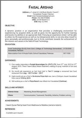 Need job as Fast food cook in a reputable restaurant