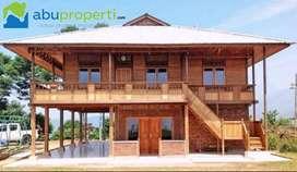 Rumah Kayu Knockdown Free Ongkir