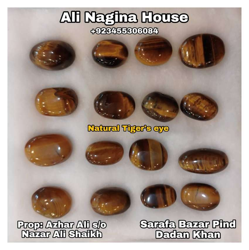Natural Tiger's eye stones Rs1000 per piece 0