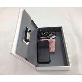 Brankas Buku Ukuran 26cm Kunci Gembok Box Storage Book Penyimpanan