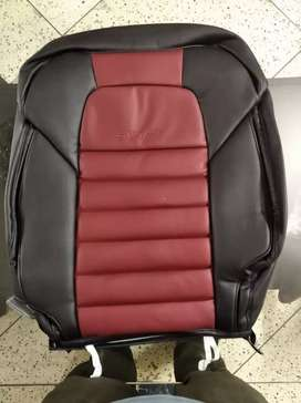 bucket fit seat covers for maruti Swift in red and black