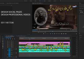 Design Professional Videos, Tags and Social pages
