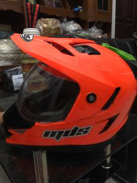 Helm mds supermoto orange