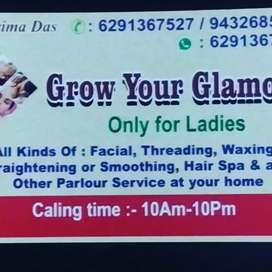 All types of parlour service at your home