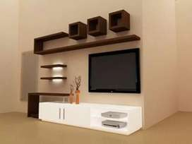 LCD panels and Tv Cabinet makes in 250 RS/- square feet contract work