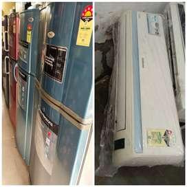5 year warranty LG 260 liter double door fridge with delivery