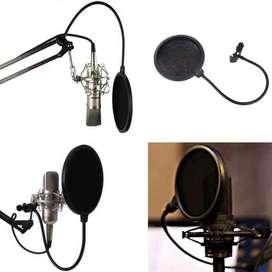 Taffware Pop Filter Mikrofon Dual Layer Windscreen - MPF-7 -