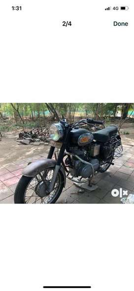 Old model retired army officer bike in nice condition