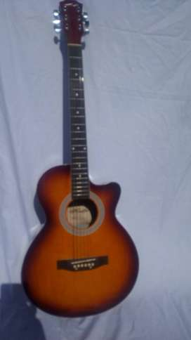 "Acoustic Jumbo Guitar - 40"" - Golden"