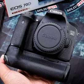Canon 70D Wifi Body Only. Fullset. garansi DS Des 2019. Mulus sekali
