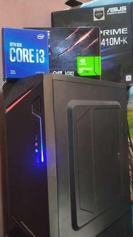 PC Komputer gaming i3 gen 10 sudah SSD