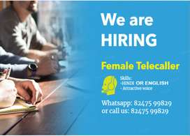 Home based Female Telecaller