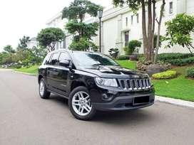 Jeep Compass 4X4 4WD hitam 2012, km 31rb record service