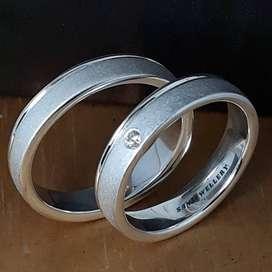 Cincin kawin perak emas platina palladium couple nikah tunangan