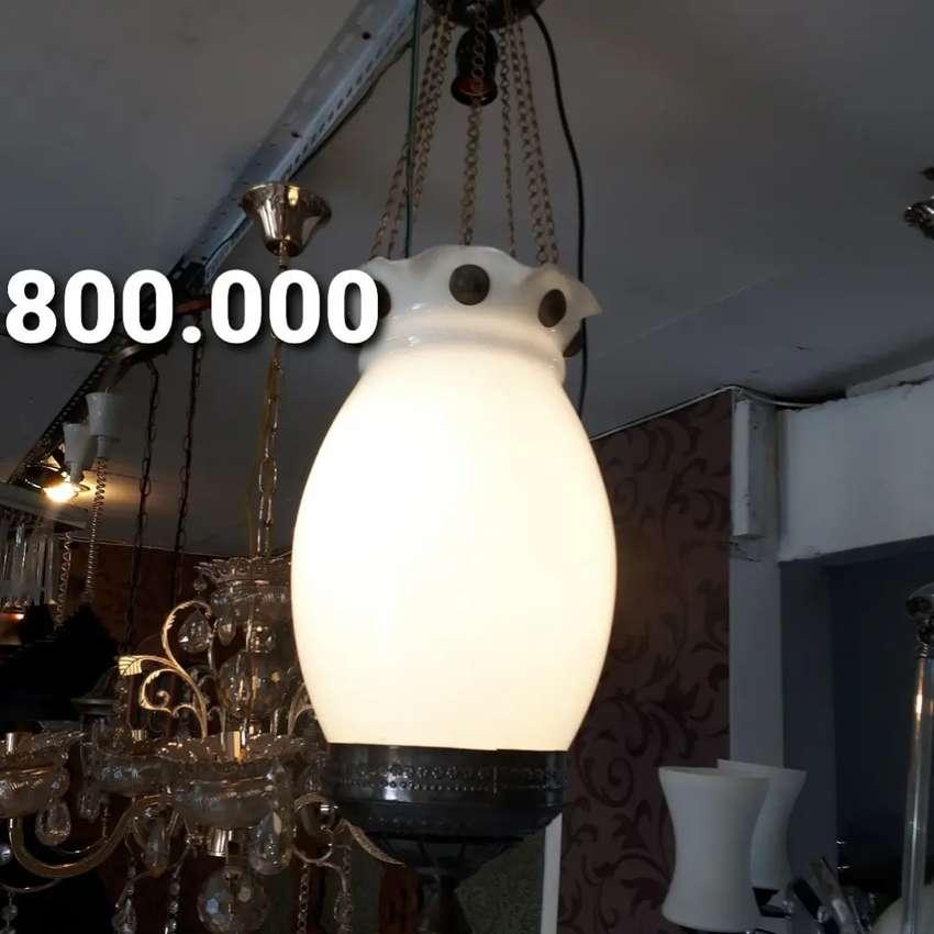 Lampu Gantung Kuningan Antik Klasik Katrol Jawa Hias Joglo Gebyok 0