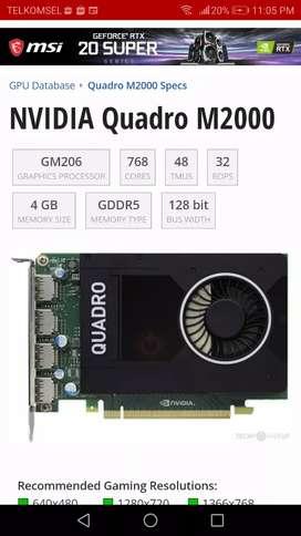 GPU VGA Render Quadro M2000 diatas K2200