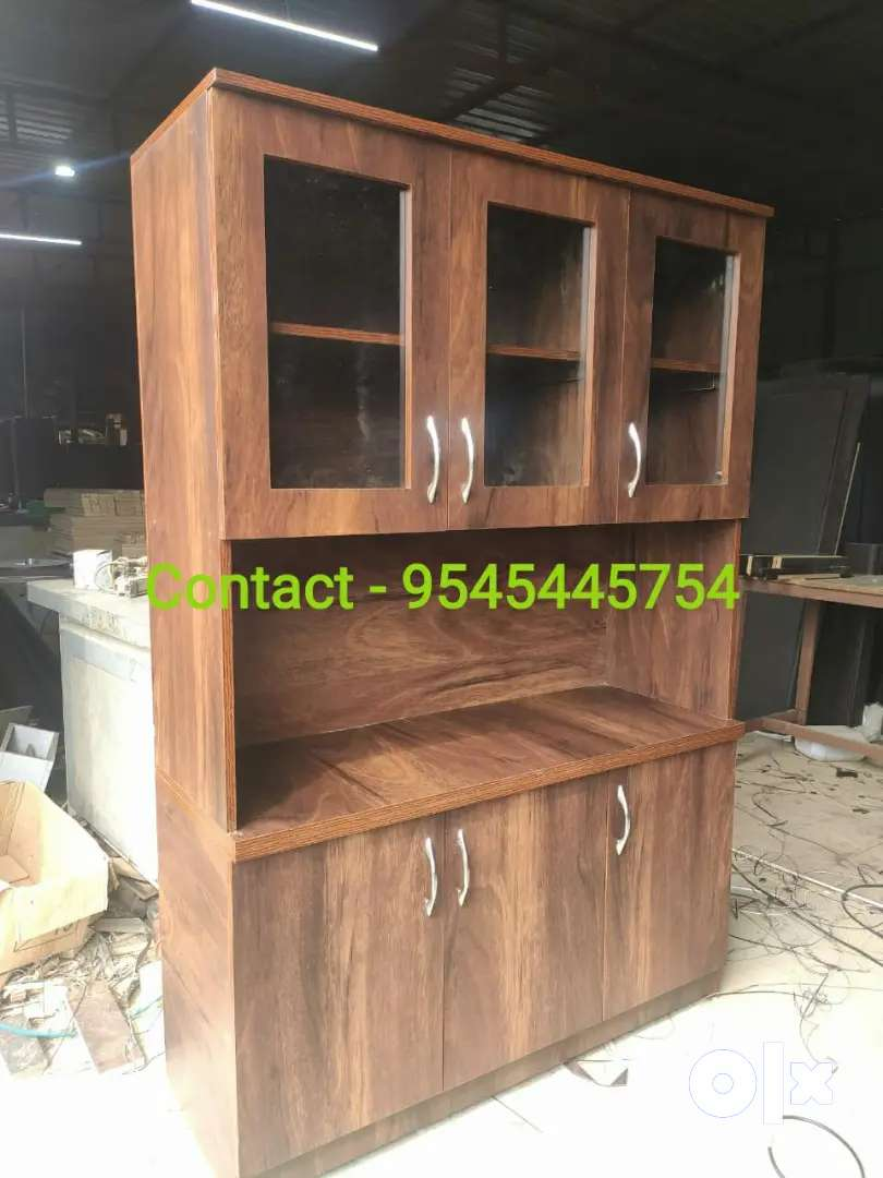 New Engineered Wood Kitchen Cabinet Finish Colour Jungle Wood Brown