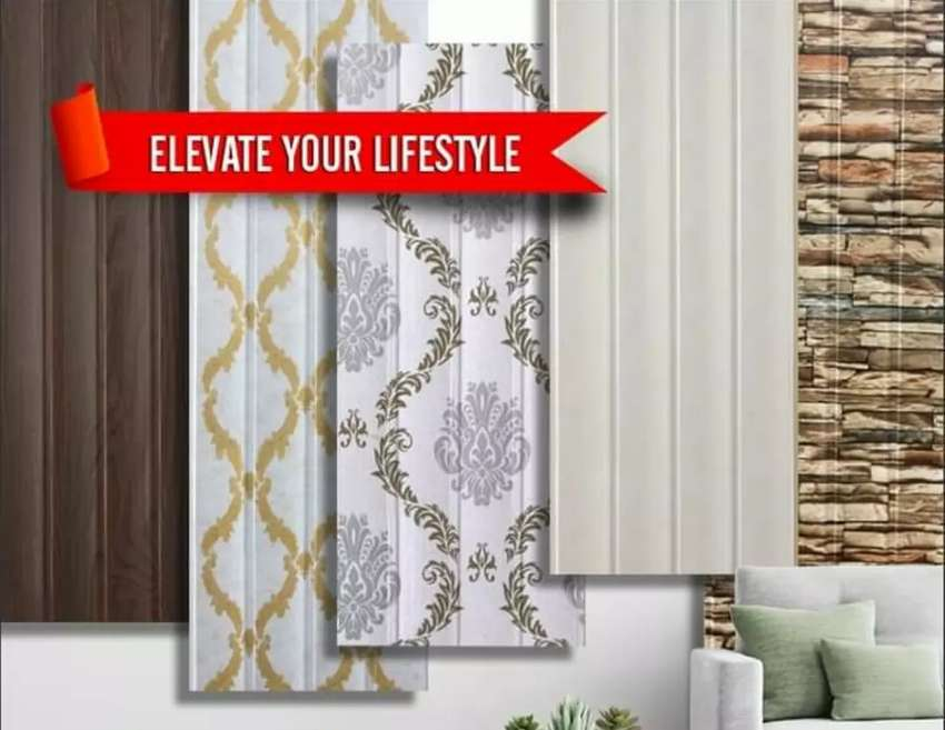 Pvc panels in wholesale price Fiber Shades window blinds wallpapers 0