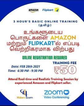 3 Hours Online Ecommerce Training