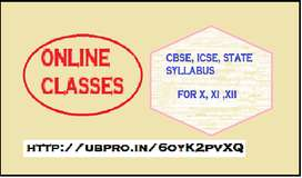 Online tuition for Class 10, 11 ,12 (CBSE, ICSE & State syllabus)