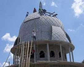 Jasa Handal dan Ahli dalam Pembuatan Kubah Masjid bahan GRC