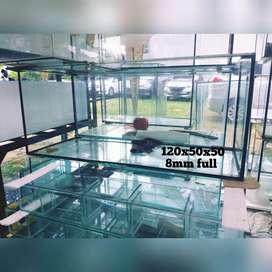 aquarium kaca 120x50x50 8mm full