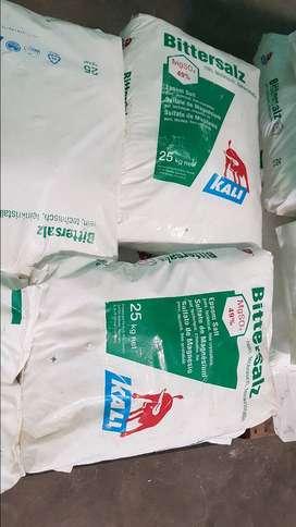 Jual bahan kimia Magnesium Sulfate Jerman, Bittersalz, sak 25 kg
