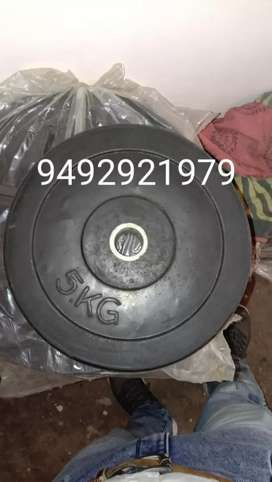Dumbbells and plate one kg 100/-