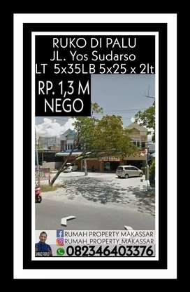 RUKO DIPALU jl Yos Sudarso LT = 5x35m.  LB = 5x25m x 2lt