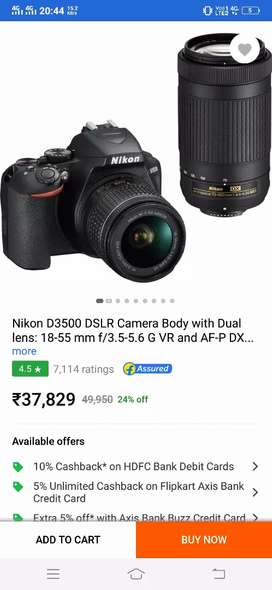 For rent new dslr camera 3500 d