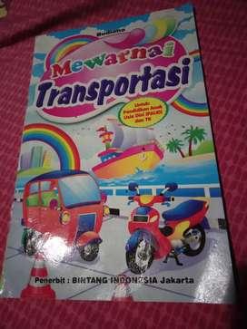 Buku mewarnai transportasi